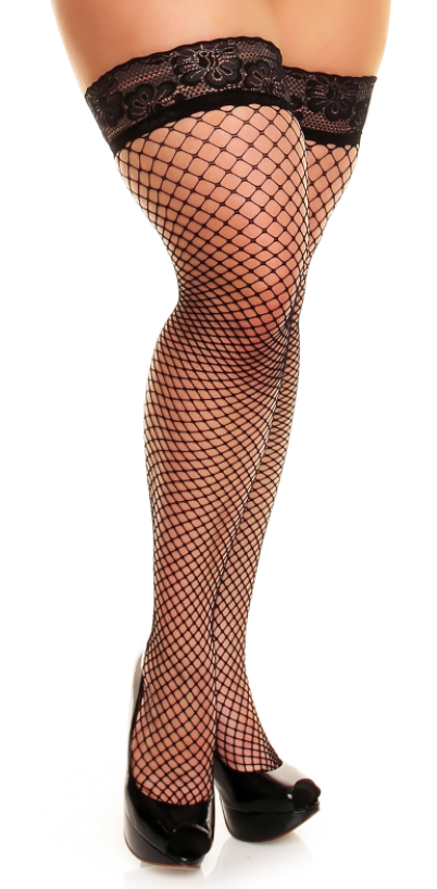 Glamory Mesh Fishnet Thigh High