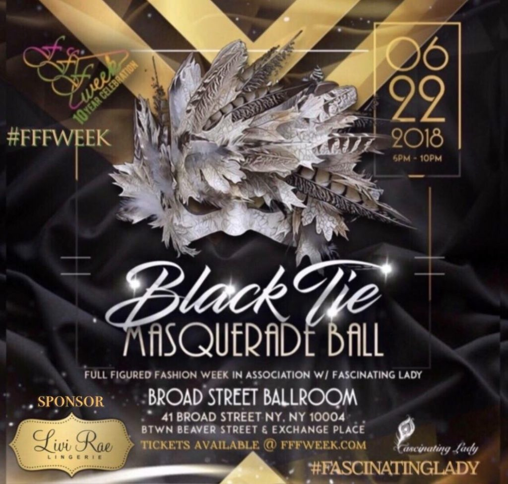 FFFWeek Masquerade Ball Flyer